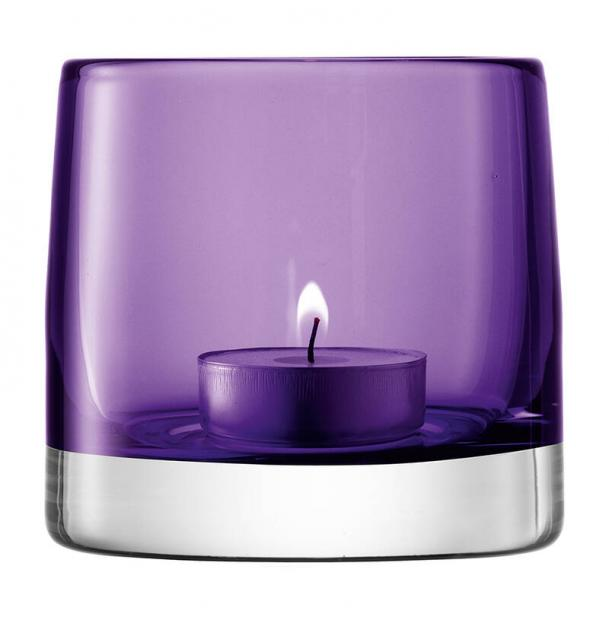 Подсвечник для чайной свечи LSA International Light Colour 85 см фиолетовый