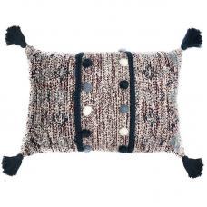 Подушка Tkano декоративная с помпонами и кисточками Ethnic 40х60х20