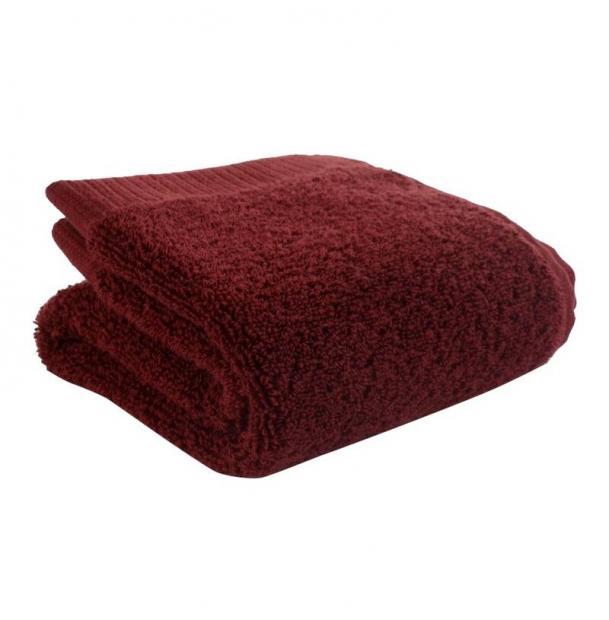 Полотенце для лица Tkano бордовое Essential 30х50