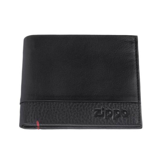 Портмоне ZIPPO с защитой от сканирования RFID чёрное 105x15x9 см