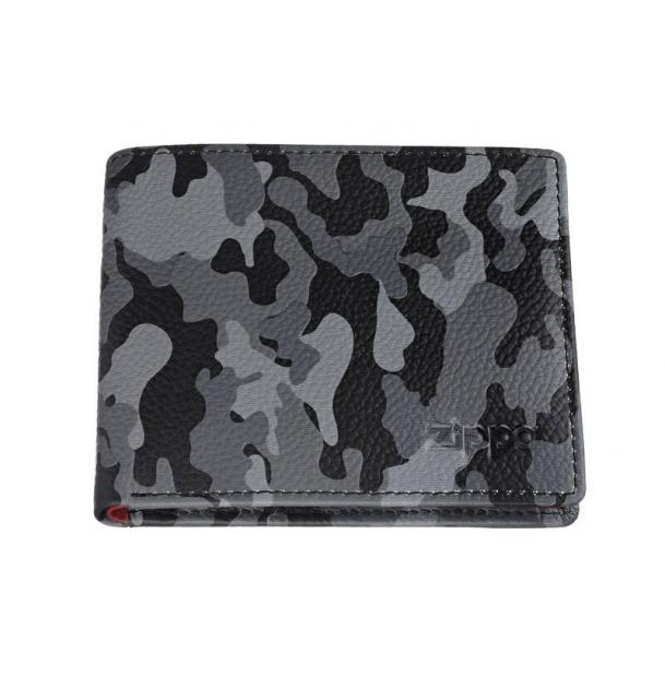 Портмоне ZIPPO серо-чёрный камуфляж 108x25x86 см