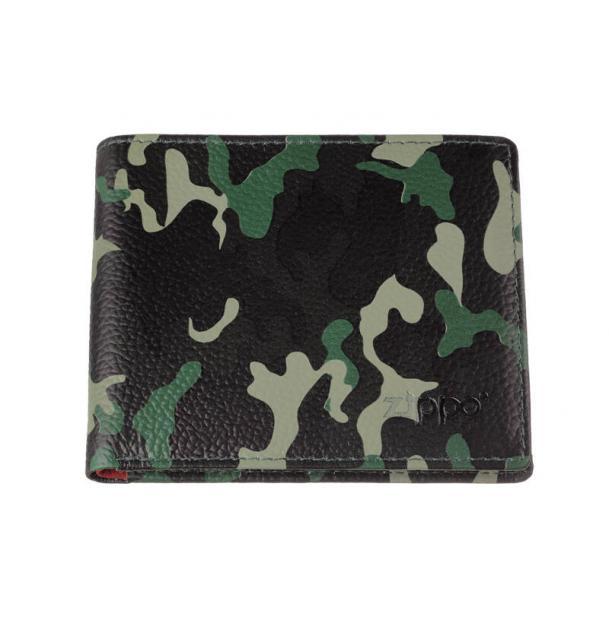 Портмоне ZIPPO зелёно-чёрный камуфляж 108x18x86 см