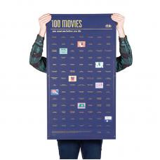 Постер Doiy «100 фильмов, которые нужно посмотреть прежде чем умереть»