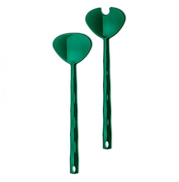 Приборы для салата Koziol Crystal зелёные