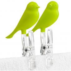 Прищепки Qualy Sparrow 4 шт. зеленые
