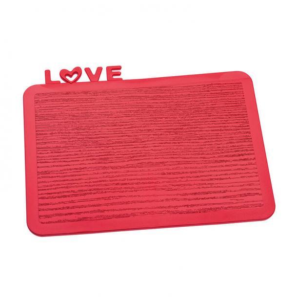 Разделочная доска Happy Board Love красная
