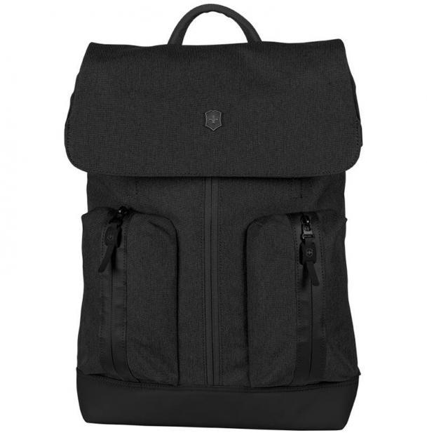 Рюкзак VICTORINOX Altmont Classic Flapover Laptop 15'', чёрный, полиэфирная ткань, 30x12x44 см, 18 л