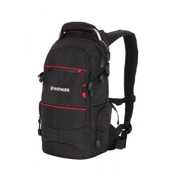 Рюкзак WENGER 13022215 чёрный/красный 22 л