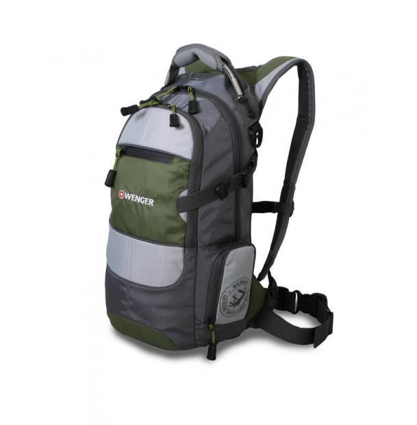 Рюкзак WENGER 13024415 серый/зеленый/серебристый 22 л