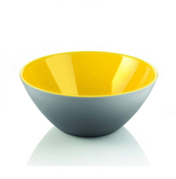 Салатница Guzzini My Fusion 20 см серая-желтая