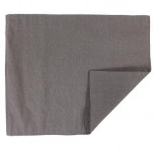 Салфетка под приборы Tkano из умягченного льна с декоративной обработкой темно-серая Essential 35х45
