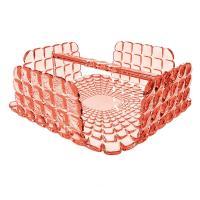 Салфетница Guzzini квадратная Tiffany коралловая