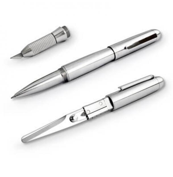 Шариковая ручка Mininch Xcissor Pen Silver