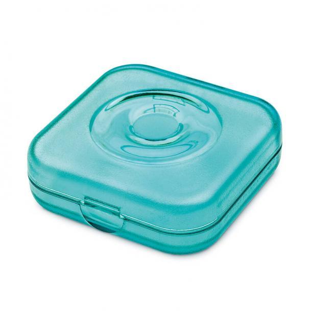Шкатулка Koziol Private Box прозрачная голубая