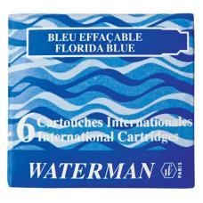 Синие чернильные картриджи Waterman International 6шт/уп