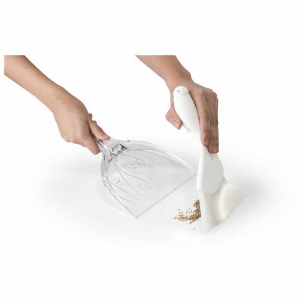 Совок для уборки крошек Qualy Sparrow прозрачно-белый
