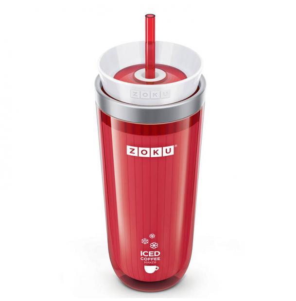 Стакан для охлаждения напитков Zoku Iced Coffee Maker красный