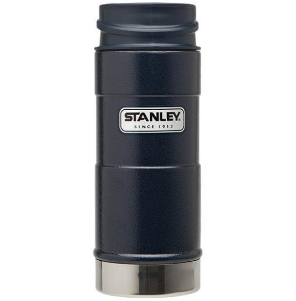 Термостакан Stanley Classic 0.35L One Hand Vacuum Mug Hammertone Navy 10-01569-006
