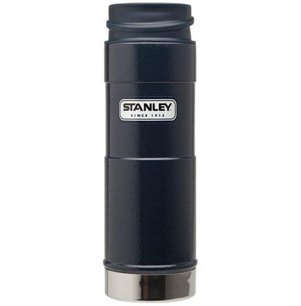 Термостакан Stanley Classic 0.47L One Hand Vacuum Mug Hammertone Navy 10-01394-014