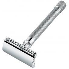 Станок Т- образный для бритья с удлиненной ручкой и лезвием в комплекте MERKUR Solingen 9023001