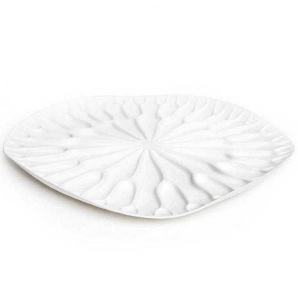 Сушилка-поднос Qualy Lotus белая
