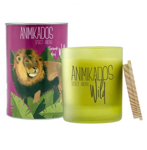 Свеча ароматическая Ambientair Lion древесный Wild 40 ч