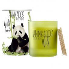 Свеча ароматическая Ambientair Panda бамбуковый Wild 40 ч