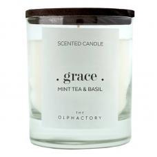Свеча ароматическая Ambientair The Olphactory Grace Black Мята и базилик 40 ч