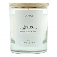 Свеча ароматическая Ambientair The Olphactory Grace Мята и базилик 40 ч