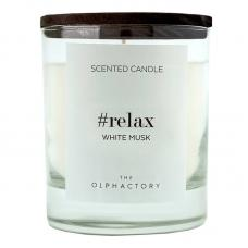 Свеча ароматическая Ambientair The Olphactory Relax Black Белый мускус 40 ч
