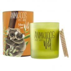 Свеча ароматическая Ambientair Wild Koala Бальзамические листья 40 ч