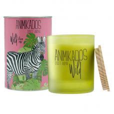 Свеча ароматическая Ambientair Zebra цветочный Wild 40 ч