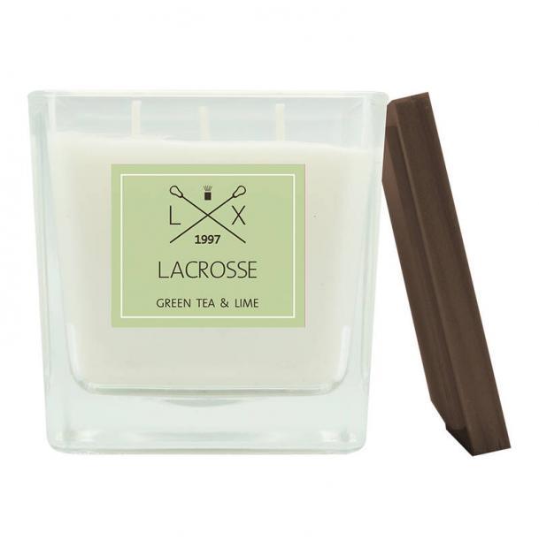 Свеча ароматическая в стекле Ambientair Зеленый чай & Лайм 10x10 см