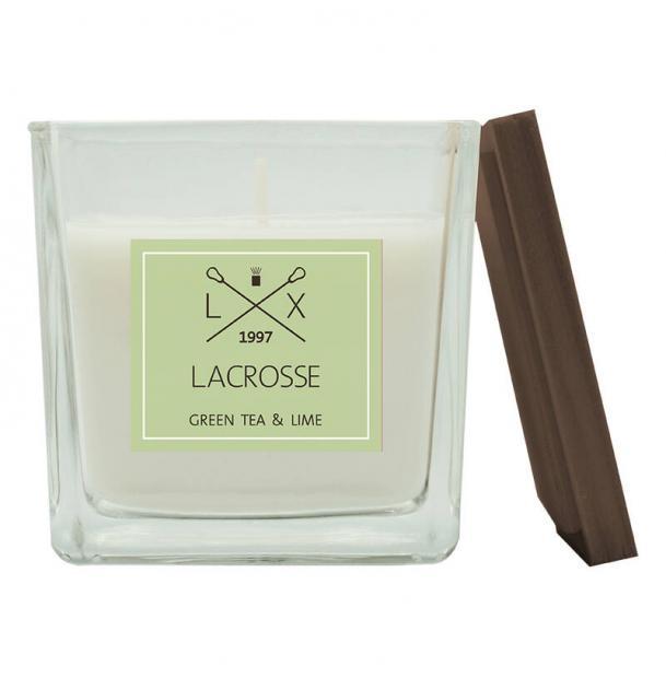 Свеча ароматическая в стекле Ambientair Зеленый чай & Лайм 8x8 см