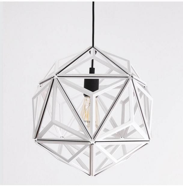 Светильник потолочный Qualy icosa Wireframe, белый