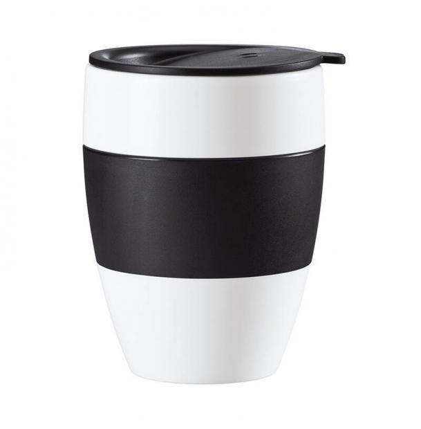 Термокружка Koziol Aroma To Go 2.0 400 мл чёрно-белая