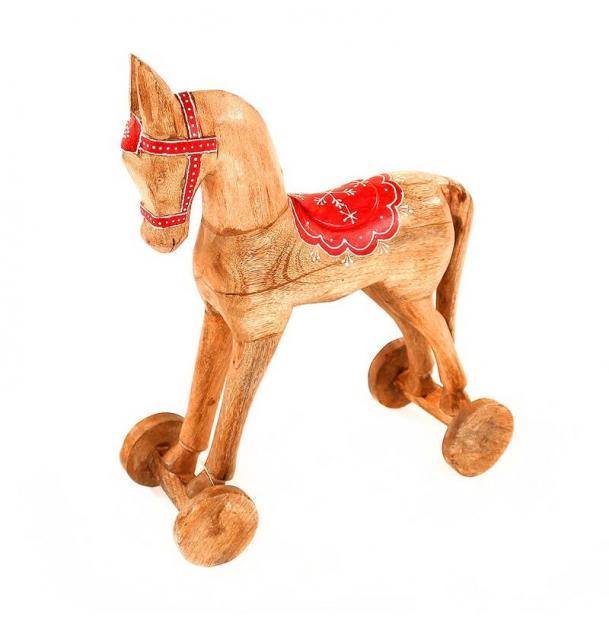 Украшение для интерьера EnjoyMe Christmas Horse en_ny0004, разноцветный, 40 х 30 х 13 см