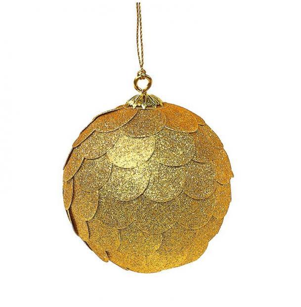 Украшение для интерьера EnjoyMe Paper Ball, en_ny0070, золотой, диаметр 10 см