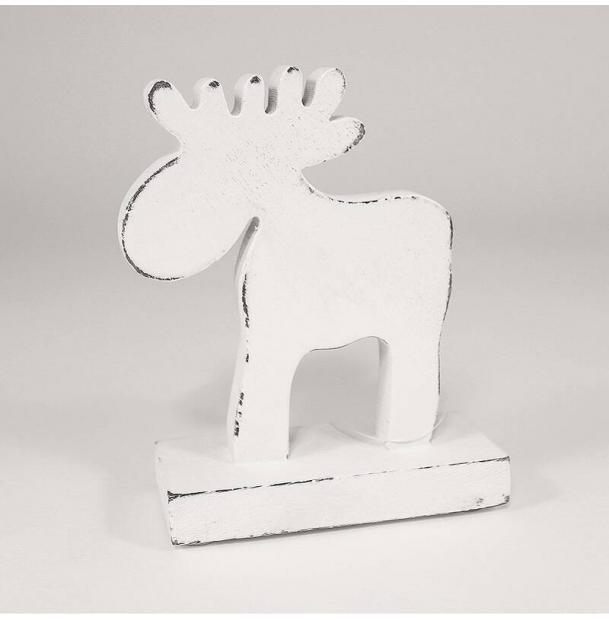 Украшение для интерьера EnjoyMe White Raindeer, en_ny0011, белый, 15 х 11 х 5 см