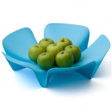 Ваза для фруктов Qualy Flower голубая