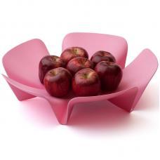 Ваза для фруктов Qualy Flower розовая