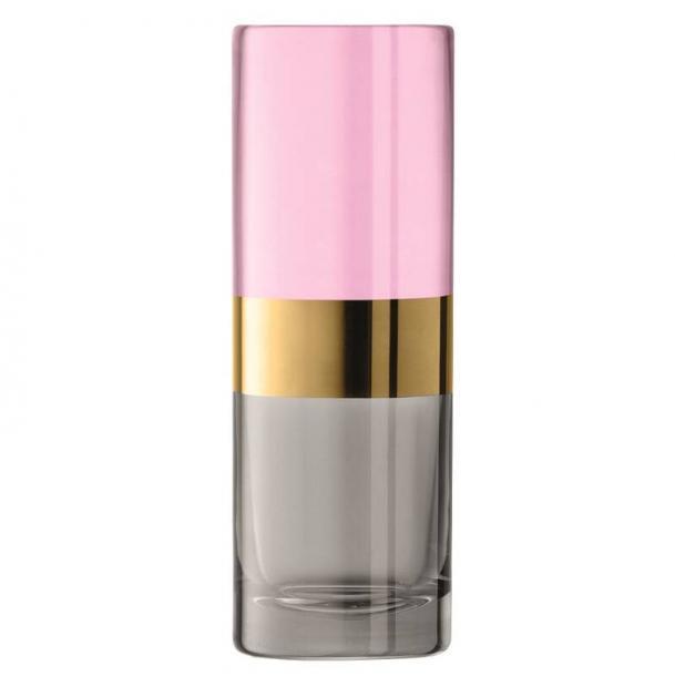 Ваза LSA International Bangle 20 см розовый