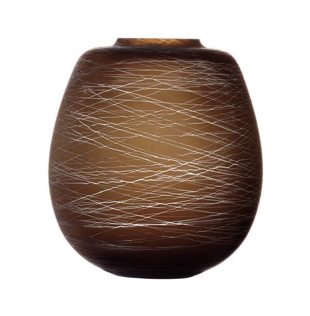 Ваза LSA International Boulder 26 см коричневая