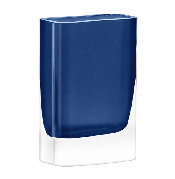 Ваза прямоугольная LSA International Modular 15x10x5 см синяя