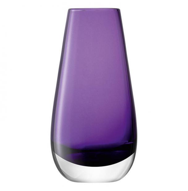 Ваза в форме бутона LSA International Flower Colour 14 см фиолетовая