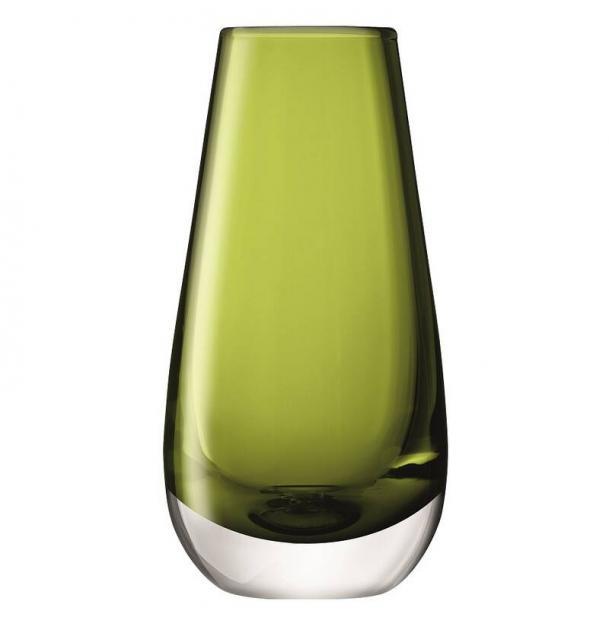 Ваза в форме бутона LSA International Flower Colour 14 см зелёная