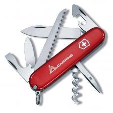 """Нож Victorinox Camper, 91 мм, 13 функций, красный с логотипом """"camping"""""""