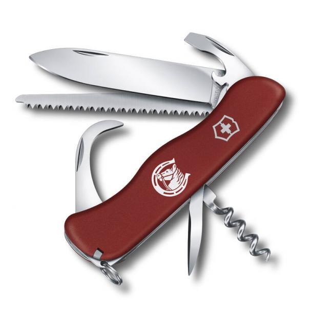Нож Victorinox Equestrian, 111 мм, 12 функций, с фиксатором лезвия, красный 0.8583