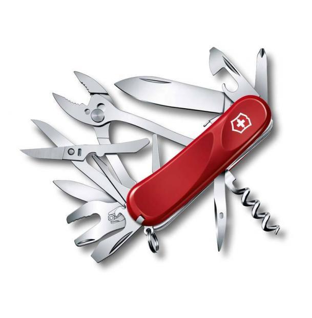 Нож Victorinox Evolution S557, 85 мм, 21 функция, красный