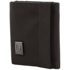 Бумажник Victorinox Lifestyle Accessories 4.0 Tri-Fold Wallet, чёрный, нейлон, 9x3x10